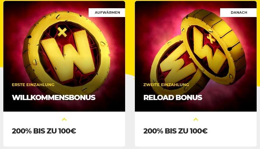 Energy Casino Willkommensbonus