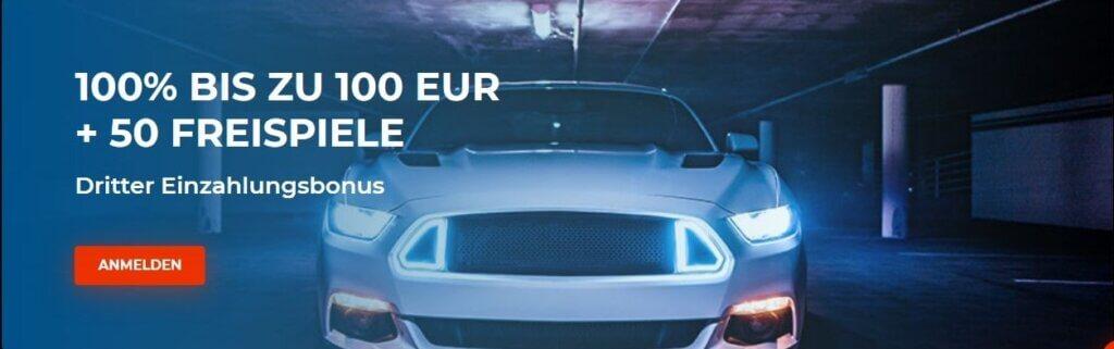 n1 casino 100% Bonus bis zu 100€ und 50 Freispiele bei Registrierung