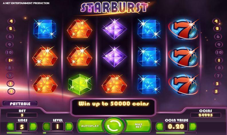 starburst 5 freispiele