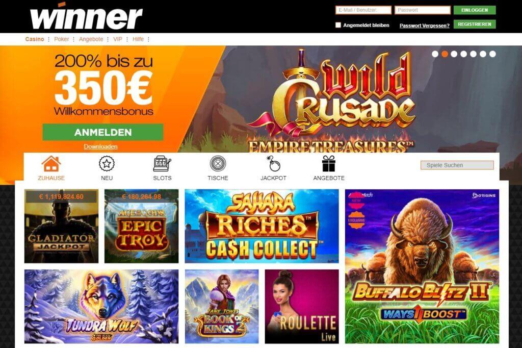 Neue Winner Casino Bonus