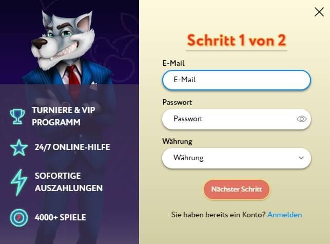 slotwolf casino registerung